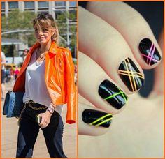 nail art fluor geometrica