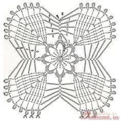 crochet lacy granny square
