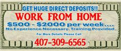 Work From Home Orlando Business Directory http://www.407Save.com