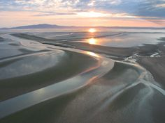 the shining sands of Solway Firth at sunset ... Dumfriesshire, Scotland.