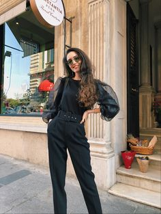 All black Outfit Office outfit from Zara Khaki Trench Coat, Trench Coat Outfit, Spring Outfits, Winter Outfits, Office Outfits, Work Outfits, Popular Clothing Brands, All Black Outfit, Black Outfits
