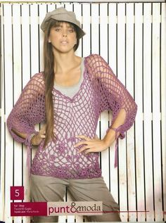 Grace y todo en Crochet: Tunic Mesh Point ....Túnica en Punto Malla....