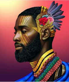 Black Royalty is at the center of this visual artist's stunning pieces Art Black Love, Black Girl Art, Black Is Beautiful, Art Girl, Black Art Painting, Black Artwork, Look Festival, African Art Paintings, Black Royalty