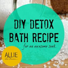 Love this ginger and epsom salt bath for a nice detox from Allie:)