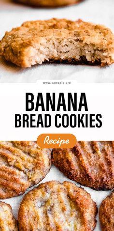 #Banana #Bread #BananaBread #Cookies Banana Bread Cookies, Gluten Free Banana Bread, Easy Banana Bread, Healthy Banana Bread, Chocolate Chip Banana Bread, Banana Bread Recipes, Cookie Recipes, Dinner Recipes, Food And Drink