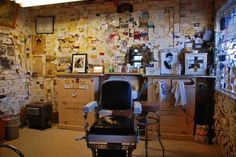 Steampunk barber shop | Angel's Barber Shop On Route 66 Poster By Susanne Van Hulst