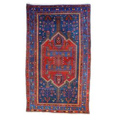 Vintage Zanjan Rug | From a unique collection of antique and modern persian rugs at http://www.1stdibs.com/furniture/rugs-carpets/persian-rugs/