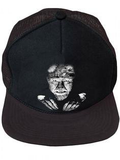 """""""The+Wolfman""""+Trucker+Cap+by+Rock+Rebel+(Black)"""