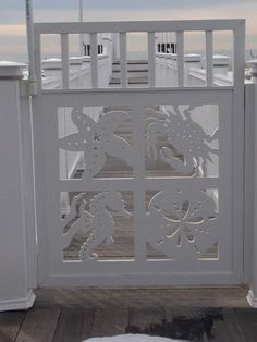 Want to have an eye catching gate for your coastal home? Takes minutes to create for a lifetime of beauty! Our coastal gate boasts a starfish sand dollar blue crab and seahorse. Made from a premium poly wood with a 30 year life. Nautical flair for your home that says Wow! Take a peek here: