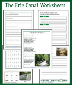 The Erie Canal Unit Study Resources and Worksheets