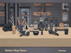 Barber Shop Decor by soloriya at TSR • Sims 4 Updates