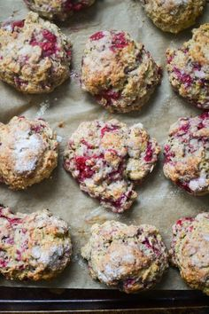 spiced oatmeal & raspberry scones