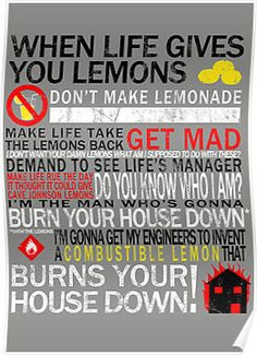 Portal - Lemons (Cave Johnson) by Styl0 one of my favorite games and one of my favorite guys as far as quotable lines go. just barely drives the story, but makes me laugh my butt off.