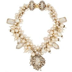 Erickson Beamon Pearl Jam gold-plated, Swarovski crystal and faux pearl necklace