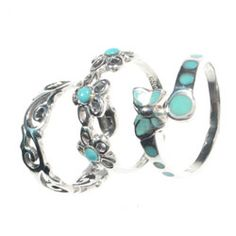 turquoise toe rings *pretty*