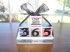 Deployment Countdown Blocks by @annee1964 on Etsy. #military #family
