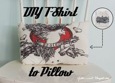 Glitter Mint: T-Shirt to Pillow Mint, Glitter, Pillows, Blog, T Shirt, Crafts, House, Ideas, Peppermint