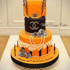 Chanel Birthday Cake Wedding Cake Decorations, Wedding Cakes, Beautiful Cakes, Amazing Cakes, Chanel Birthday Cake, Channel Cake, Cupcake Cakes, Cupcakes, Cake Stencil