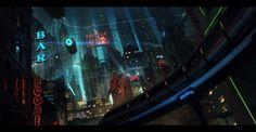 Mechas, Science Fiction and Landscapes – 32 mind blowing Illustrations by Andree Wallin Ville Cyberpunk, Art Cyberpunk, Cyberpunk 2020, Fantasy City, Dark Fantasy, City Illustration, Digital Illustration, Plan Ville, Science Fiction