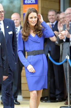 Kate Middleton - The Duchess of Cambridge looked calm and confident as she gave her first public address wearing a dress from high street store Reiss dress
