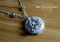 "Sacred Arrow Diffuser Jewelry   18"" Silver 'Hebrews 6' Diffuser Necklace – Sacred Arrow"
