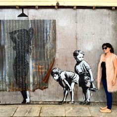 a look inside banksy's dismaland with artist barry salzman #streetart jd