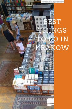 A cool Bookstore in Krakow's Jewish Quarter/Kazimierz Check out top things to see in Krakow, Poland.