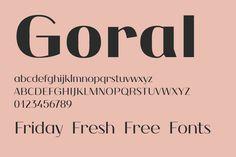 Friday Fresh Free Fonts - Goral, Chameli, Chubby   Abduzeedo Design Inspiration