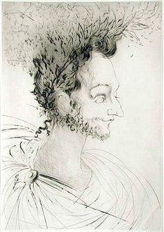 Salvador Dali, Portrait de Ronsard (Portrait of Ronsard)