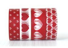 Hearts Washi Tape (Chugoku) - Hearts Washi - Washi Tape (Other)
