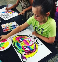 smART Class: Hip Hop Tigers use neon paint Tiger Painting, Painting For Kids, Art For Kids, Summer Camp Art, Smart Class, Hip Hop, Animal Art Projects, 2nd Grade Art, Tiger Art