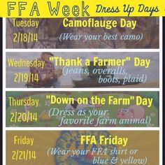 Great poster idea for FFA Week! Show how much FFA means to you