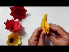 ORIGAMI TESSELATION FOR BEGINNERS WITH T-ROSE METHOD - YouTube