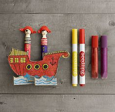 MINI PIRATES CLOTHESPIN KIT