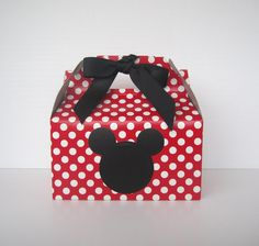 Set of 5 Mickey Mouse Favor Boxes - Mickey Mouse Party Treat Boxes. $8.00, via Etsy.