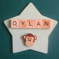 Personalised Star shaped name plaque by MooseintheMint on Etsy