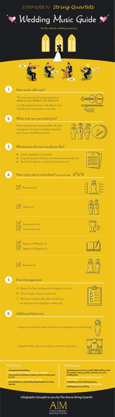 6 Step Guide to Wedding Ceremony Music #Infographic #Music #Wedding                                                                                                                                                      More