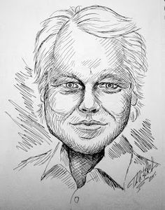 Tom Kbrink's Art and Holistic Living: Phillip Seymour Hoffman Caricature