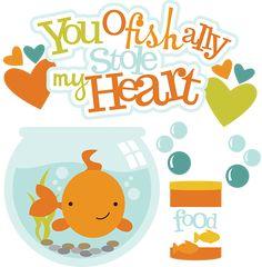 You Ofishally Stole My Heart SVG fish clipart fish bowl clipart free svg files cute fish clip art