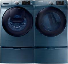 azure blue samsung washer w matching steam dryer the convenient rh pinterest com