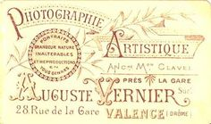 VERNIER Auguste, ancienne maison CLAVEL - Valence, Drôme