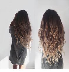 Brown balayage with beautiful highlights inspiring women - . - Brown balayage with beautiful highlights inspiring women – - Black To Blonde Hair, Blonde Hair With Roots, Dark To Blonde Ombre, Black Hair With Ombre, Brown Hair With Blonde Ombre, Balayage Diy, Ombre Hair Brunette, Balayage Hair Brunette Long, Hair Color For Black Hair
