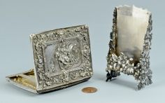 Lot 519: Shiebler & Figural Card Holders - Image 1 to bid online, visit our catalog at http://www.liveauctioneers.com/catalog/49503_winter-fine-art-and-antiques-auction/page26?rows=20