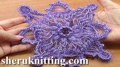In this hairpin lace crochet tutorial we showed you how to make a hairpin lace strip for this beautiful square motif or snowflake ornament. After we remove t...