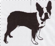 boston terrier silhouette afghan graph pattern on Craftsy.com