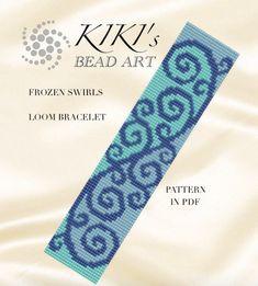 Bead loom pattern Frozen swirls LOOM bracelet by KikisBeadArts
