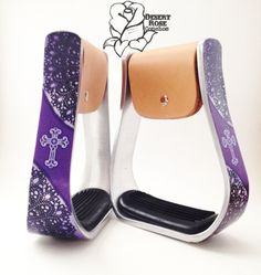 Purple Lace Stirrups created by Desert Rose Conchos
