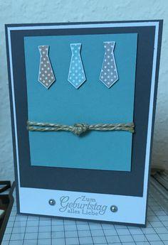 Karte stampin up Krawatte