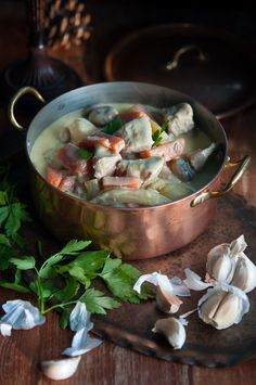 Blanquette de veau or Classic French veal ragout | Gourmantine @Gintare | Gourmantine