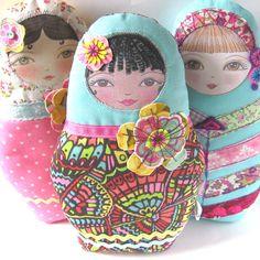 Babushka Doll Marva por zouzoudesign en Etsy